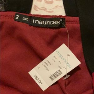 Maurices Tops - Lace Racerback Magenta Tank w/ Ruching